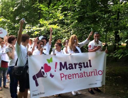 Societatea civilă a participat la primul marș dedicat copiilor născuți prematur
